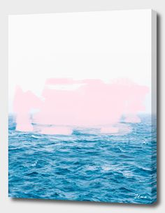 """Ocean + Pink"", Exclusive Edition Canvas Print by Uma Gokhale - From $69.00 - Curioos"