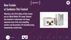The Sundance VR app