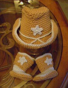 Ravelry  Get Along Little Doggie hat free pattern by Rain Morrison- crochet  cowboy hat and boots 81305a451736