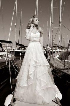 Gorgeous long sleeves Galia Lahav wedding gown