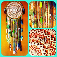 Mermaid DreamCatcher Vintage Doily and Trims w by CosmicAmerican, $120.00
