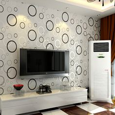 Modern wallpaper designs for living room contracted fashion modern printing wallpaper roll circle living room light Design Living Room Wallpaper, Wall Painting Living Room, Modern Wallpaper Designs, Living Room Tv Unit Designs, Bedroom Wall Designs, Designer Wallpaper, Wall Texture Design, Tv Wall Design, Tv Wall Decor