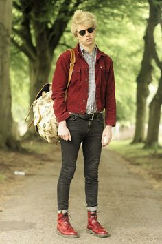 Red & docs. This man's style is swoon. (Charlieo V.)
