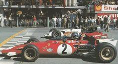 Monza 1970, Jacky Ickx (Ferrari) and Pedro Rodriguez (BRM).