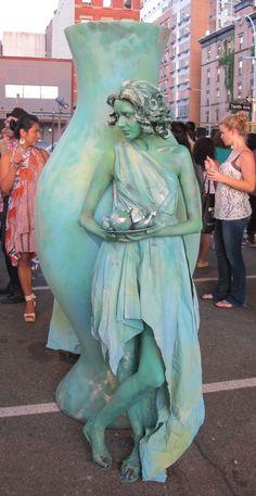 green statue