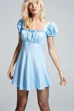 Love, Courtney by Nasty Gal Doll Parts Satin Babydoll - Clothes | Nasty Gal X Courtney Love | Day | Solid | Dresses