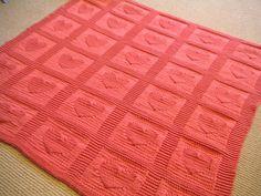 Heart Baby Blanket, by Ann Saglimbene on Ravelry. Free downloadable knitting pattern!!