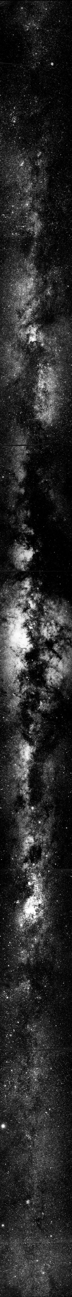♥ The Milky Way Galaxy - every dot is a Sun. via the Two Micron All Sky Survey using, in part, the Very Large Telescope.::  @Sha Hwang .. In the Atacama Desert in Chile.