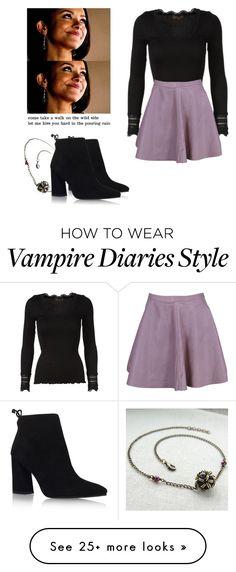 """Bonnie Bennett - tvd / the vampire diaries"" by shadyannon on Polyvore featuring Rosemunde, VIPARO, Stuart Weitzman and Børn"