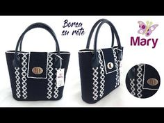 Geometric bag   Borsa su rete con manici a vite - YouTube Handmade Bags, Crochet Patterns, Youtube, Tote Bag, Purses, Facebook, Crocheted Bags, Punch, Crocheting