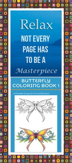30 High Definition Coloring Pages Black Outlines With Colored Examples This Butterfly Art Therapy