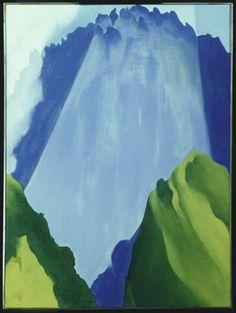 "Georgia O'Keeffe (1887-1986), ""Peru - Machu Picchu, Morning Light"" - The Art Institute of Chicago ~ Chicago, Illinois, USA"