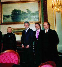 D. Manuel Marín, Ascensión Tejerina, Santiago Castellá y Javier Otaola en el Congreso de los diputados