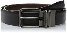 Haggar Mens 32MM Burnished Reversible Belt BlackBrown 40 *** Click image to review more details.