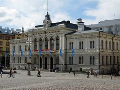 The Tampere Townhall Examples Of Art, Art Nouveau Architecture, One Summer, Famous Landmarks, Helsinki, Parks, Places To Go, Street View, City