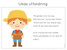 ukas utfordring Sensory Play, Early Learning, Teaching Math, Children, Kids, Education, School, Norway, Barn