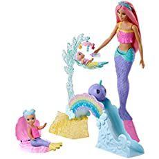Muñeca Barbie Dreamtopia Sirena Luces De Arcoíris Barbie Mx Juegos Y Juguetes Barbie Sirena Muñecas Barbie Bebé Sirena