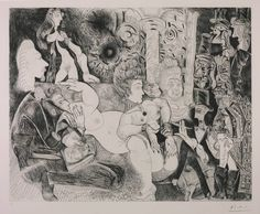 Pablo Picasso (1881‑1973)  Title  Etching: 11, 28 February 1970 3, 16, 30 March 1970