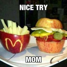 My Daycare Lunch: Using Fruit To Create Fast Food Look-A-Likes!