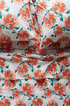 Anthropologie. impressionist. floral. sheets. gift from Slaughters.