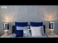 City Mom shares her master bedroom redecoration with Walls Republic. Teen Bedroom, Bedroom Wall, Master Bedroom, Wood Wallpaper, Pastel Blue, House In The Woods, Vintage Wood, Decorating Tips, Walls