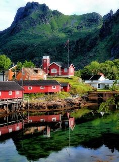 Beautiful Svolvaer, Norway, is the administrative center of Vagan Municipality in Nordland County, Norway. It is located on the island of Austvågøya in the Lofoten archipelago.  Go to www.YourTravelVideos.com or just click on photo for home videos and much more on sites like this.