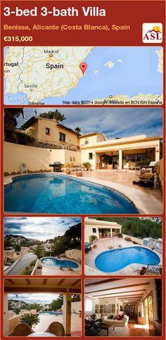 3-bed 3-bath Villa in Benissa, Alicante (Costa Blanca), Spain ►€315,000 #PropertyForSaleInSpain