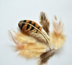 Your place to buy and sell all things handmade Owl Feather, Bird Feathers, Needle Felting, Brooch, Pure Products, Inspiration, Etsy, Biblical Inspiration, Brooches