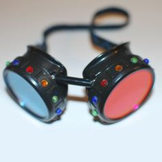 #colorful #masquerade #goggles are now available! Featured in #steampunkgoggles the #deck on #kickstarter!