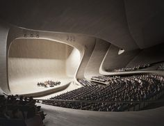 Zaha Hadid: Heydar Aliyev Centre, Baku /* Introducing moire studios a thriving… Zaha Hadid Architecture, Futuristic Architecture, Contemporary Architecture, Amazing Architecture, Art And Architecture, Concert Hall Architecture, Auditorium Architecture, Layered Architecture, Zaha Hadid Interior