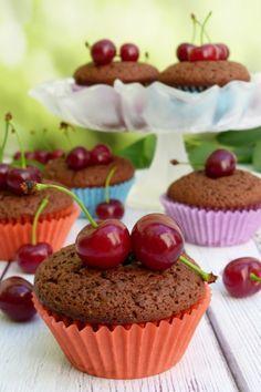 Meggyes muffin recept