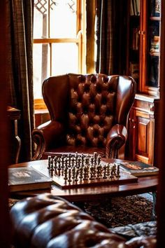 Home Office Chair Leather Man Cave 29 Ideas For 2019 Study Office, Home Office, Whiskey Room, English Country Manor, Interior And Exterior, Interior Design, Cigar Room, Home Libraries, Man Room
