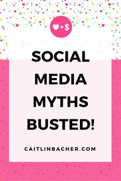 """Did you know that it doesn't ~actually~ matter how many followers you have? Caitlin Bacher busts social media myths in her most recent post, """"Social Media Marketing Myths Busted"""""""