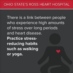 Practice #stress reducing habits to better your #heart #health. #Yoga #Walking
