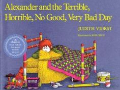 Alexander and the Terrible, Horrible, No Good, Very Bad Day by Judith Viorst. Follow the link and scroll through the Barnes & Noble  videos. http://www.barnesandnoble.com/u/online-storytime-books-toys/379003588
