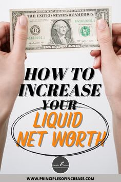 """A large part of financial health is """"knowing your numbers,"""" net worth being one of them. If you've ever wondered how to track your liquid net worth or even what it is, this guide will help you not only arrive at that figure but also give you tips on how to increase it. #Capital #Cash #Finance via: @increaselaws"""
