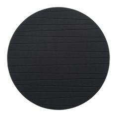 IKEA - PANNÅ, Placemat, zwart, , Beschermt het tafelblad en vermindert het lawaai van borden en bestek. (6)
