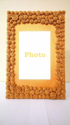 Picture Gold Frame Recycled Newspaper Spray Metallic Gold Magazines  #christmasgifts #goldframe #diy #craft #crafty #upcycled #recycleart #recyclepaper #flower #handmade #diychristmas #homedecor