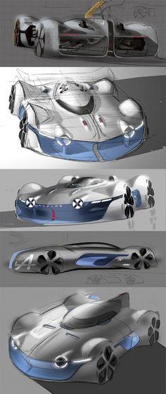 Alpine Vision Gran Turismo: design sketch gallery