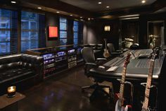 Setai Recording Studio at Setai Hotel in Miami, designed by Lenny Kravitz Design