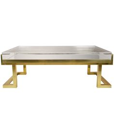 Mies Coffee Table in Natural Brass