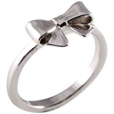 Joy Everley Silver Bow Ring (170 BRL) ❤ liked on Polyvore featuring jewelry, rings, accessories, bow ring, vintage bow ring, silver rings, silver bow jewelry and vintage rings
