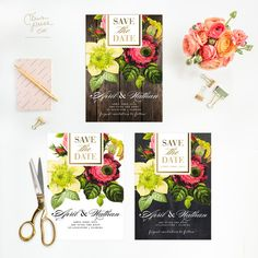 Save the Date Wedding botanical roses flora by CitrusPressCo Save the Date Wedding botanical roses flora by CitrusPressCo #savethedate #botanical #rose #roses #painterlyroses #stationery #weddinginvitations #papergoods