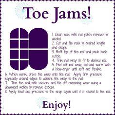 Here are some basic instructions for applying your Jam' Pedi! Remember you can get 2 Pedi's out of your full sheet! Order now at http://CuticleCutie1.jamberrynails.net