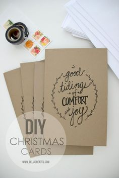 These pretty printable cards. | 23 DIY Christmas Cards You Can Make In Under An Hour