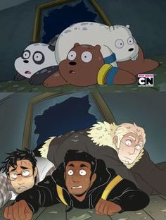 we bare bears<<< is panda markipiler?<<< Panda does look alot like Markiplier.<<< I can confirm panda is markiplier Anime Vs Cartoon, Cartoon Kunst, Cartoon Shows, Cartoon Art, We Bare Bears Human, Cartoon Characters As Humans, Desenhos Cartoon Network, We Bear, Image Manga