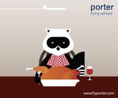 Porter Airlines : Happy Thanksgiving Porter Airlines, Vintage Travel Posters, Happy Thanksgiving, Airplane, Hello Kitty, Snoopy, Logos, Illustration, Design