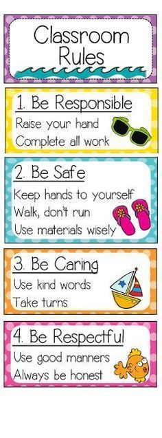 Classroom Rules (I survived Week 1!)