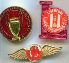 Liverpool Football Club Pins, Eur. Champ., League Champ., 13 items, UK via Rumma.ge