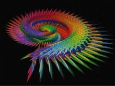 Wings Fractal Cross Stitch Chart by Jannz on Etsy, $10.00